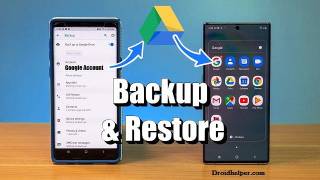 restore your apps and settings to a new Android device
