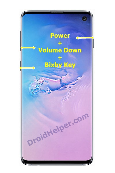 Samsung Devices with Power, Bixby, and Volume Keys