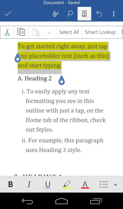 Microsoft word apk for android